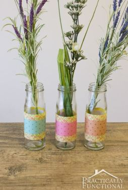 papoer wrapped vase