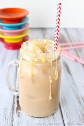 salted carmel latte