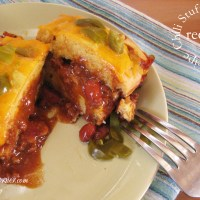 Chili Stuffed Cornbread