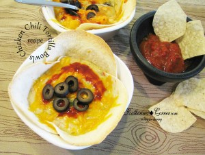 Chicken Chili Tortilla Bowls
