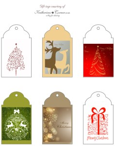 Gift Tag Printables and a Recipe
