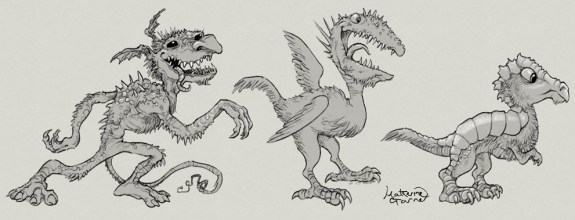 Goblin creature and animal mounts