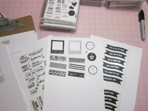 Sample of my stamp inventory binder pages