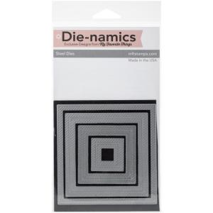Die-namics Inside & Out Diagonal Stitched Square STAX