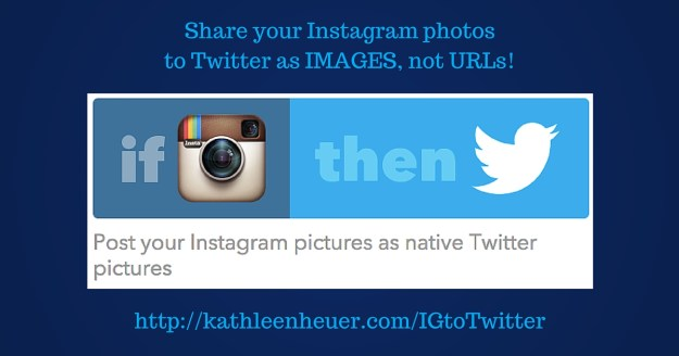 IFTTT Instagram to Twitter