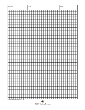Kathryn Ivy - Knitting Journal - Making Graph Paper In Word