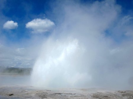 Yellowstone Geyser Rising