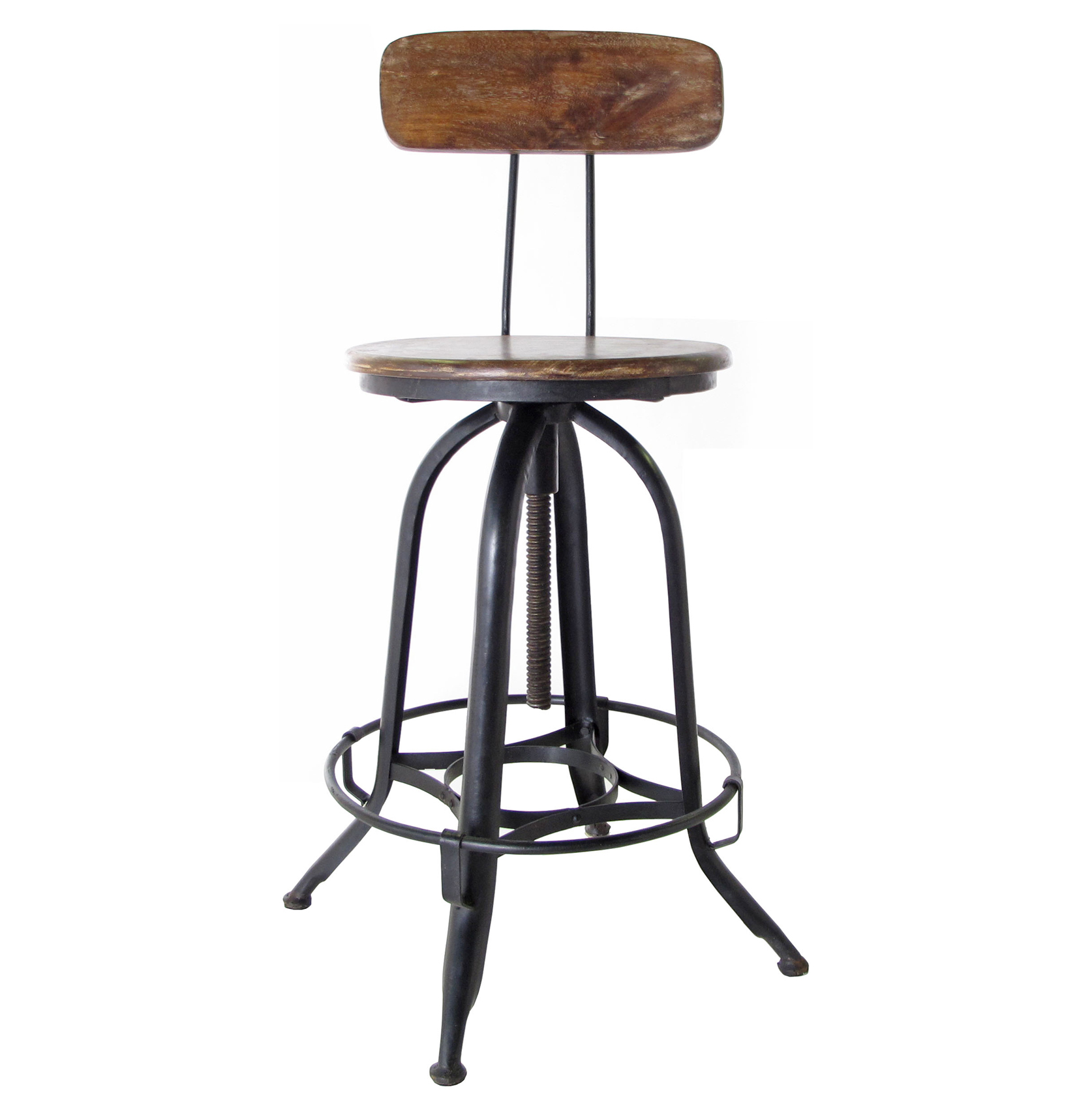 Industrial Bar Stools With Backs Architect 39s Industrial Wood Iron Counter Bar Swivel Stool