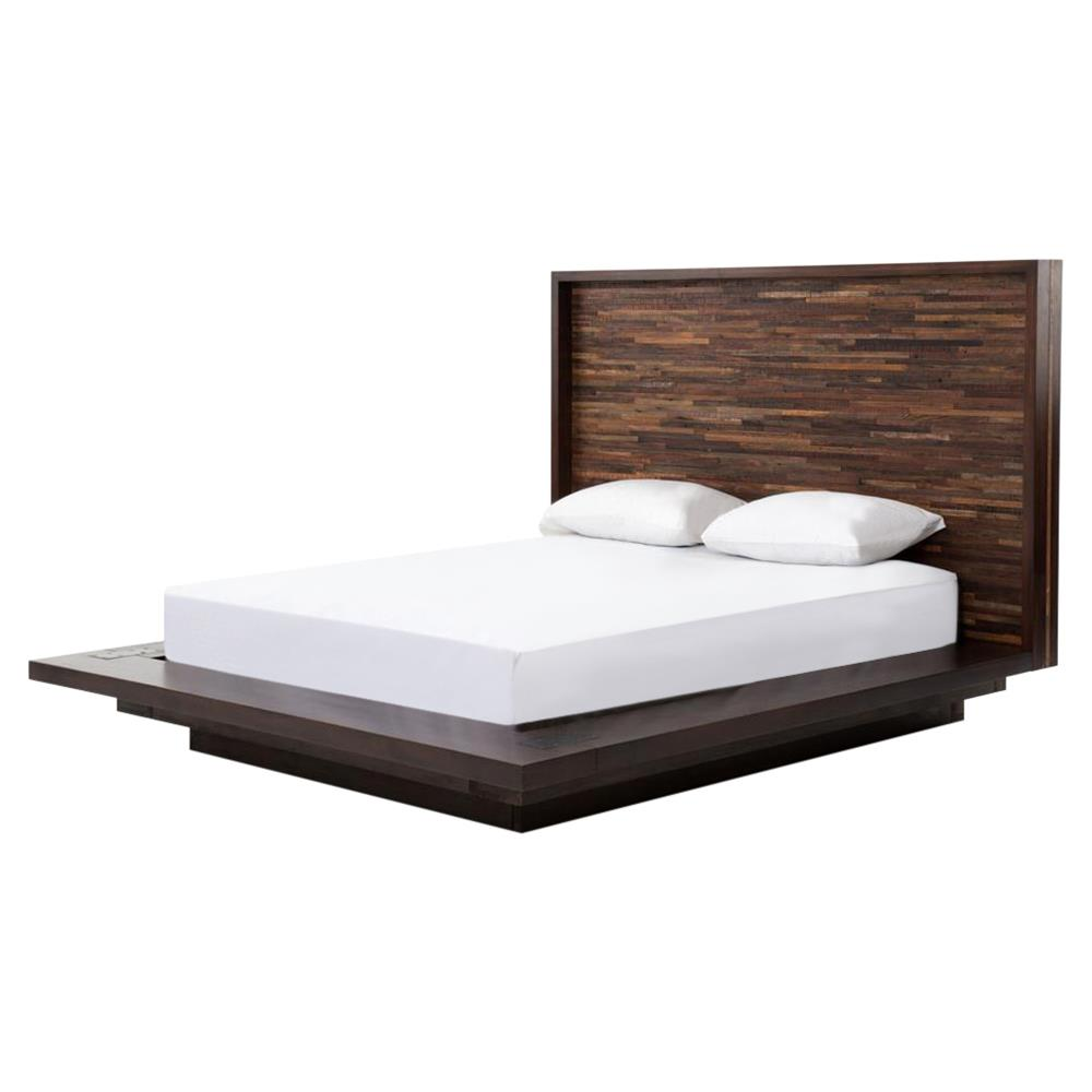 Bed Headboard Larson Modern Classic Variegated Wood Headboard Platform Bed Queen