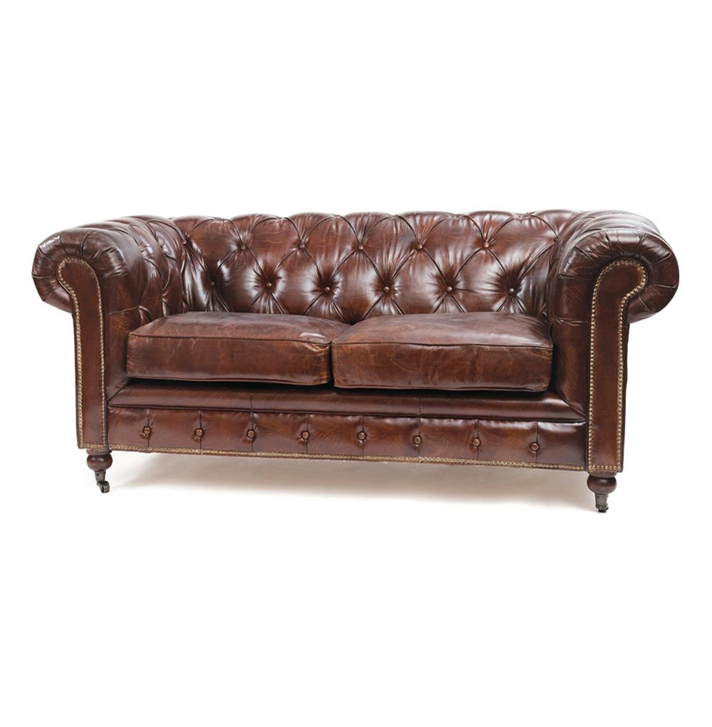 Chesterfield Sofa London Vintage Top Grain Leather Chesterfield Sofa | Kathy
