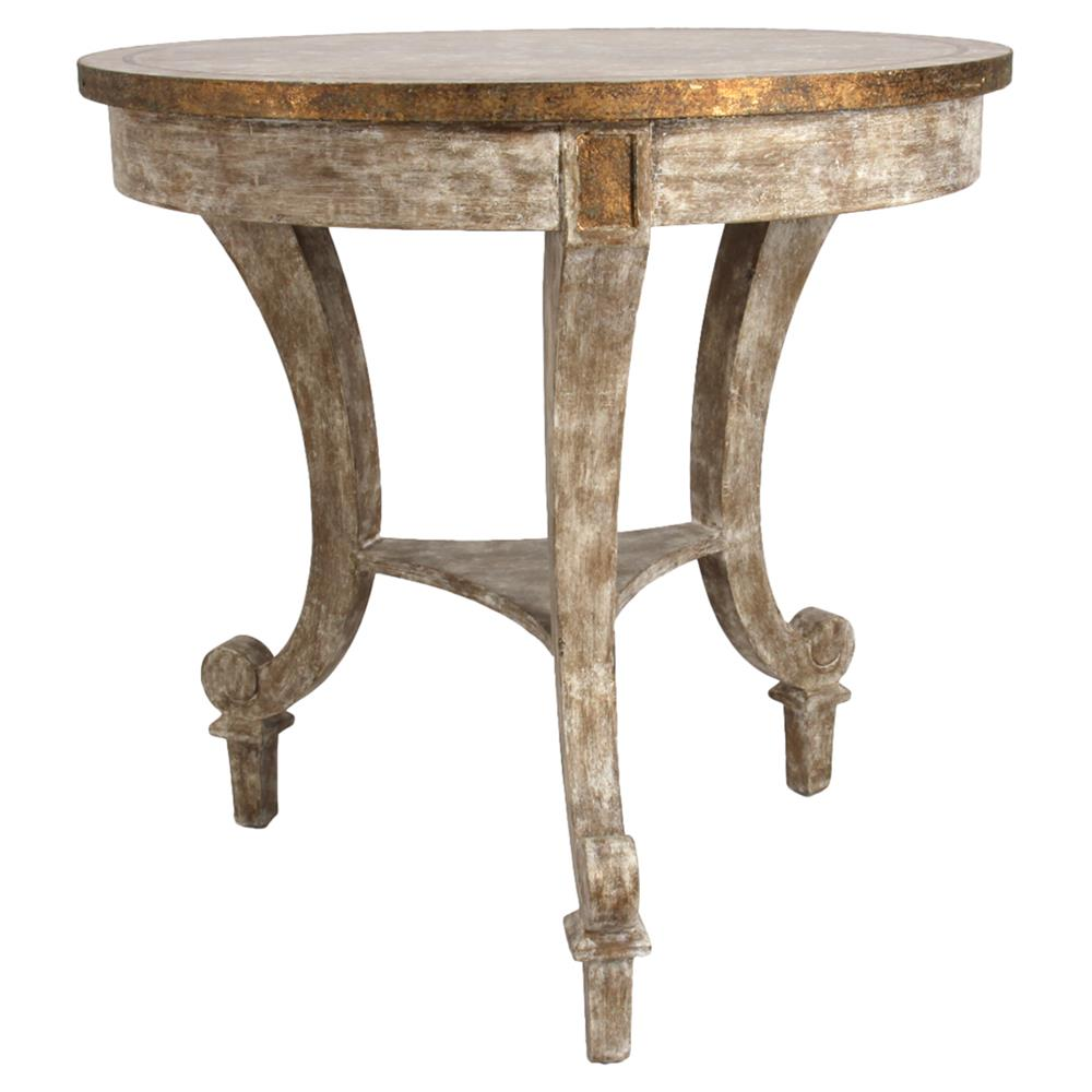 Rustic Wood End Table Sayer French Rustic Gilt Ivory Wood End Table