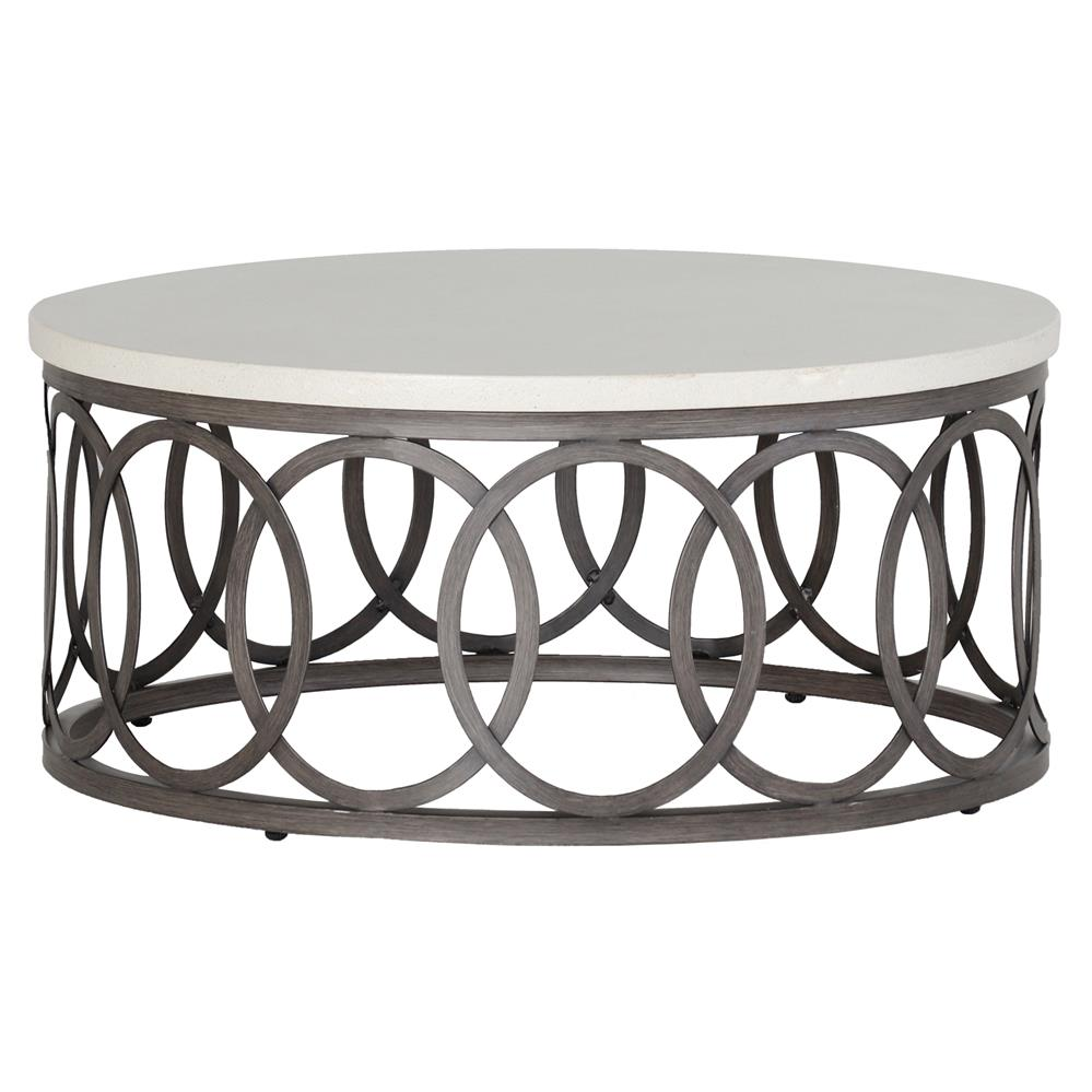 Metal Coffee Table Summer Classics Ella Oval Interlock Ivory Outdoor Coffee Table