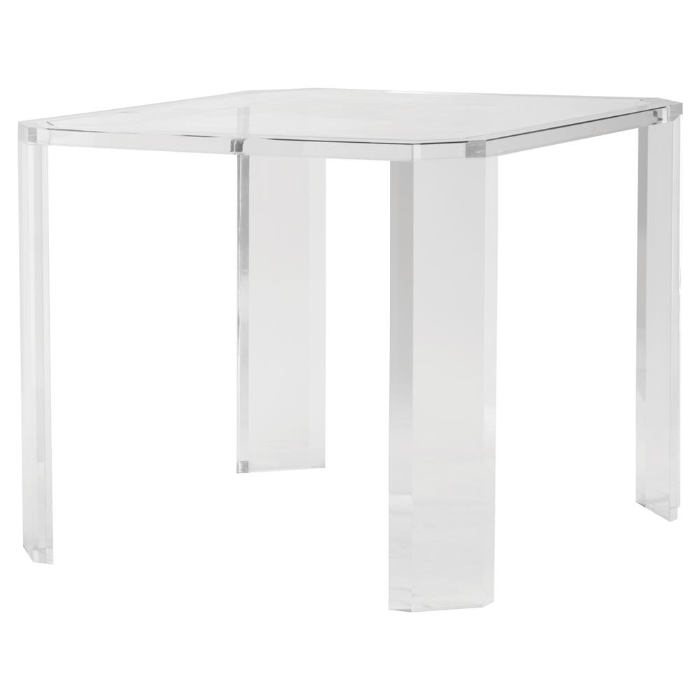 Table Luxe Highland House Luxe Modern Classic Clear Acrylic Square Game Table