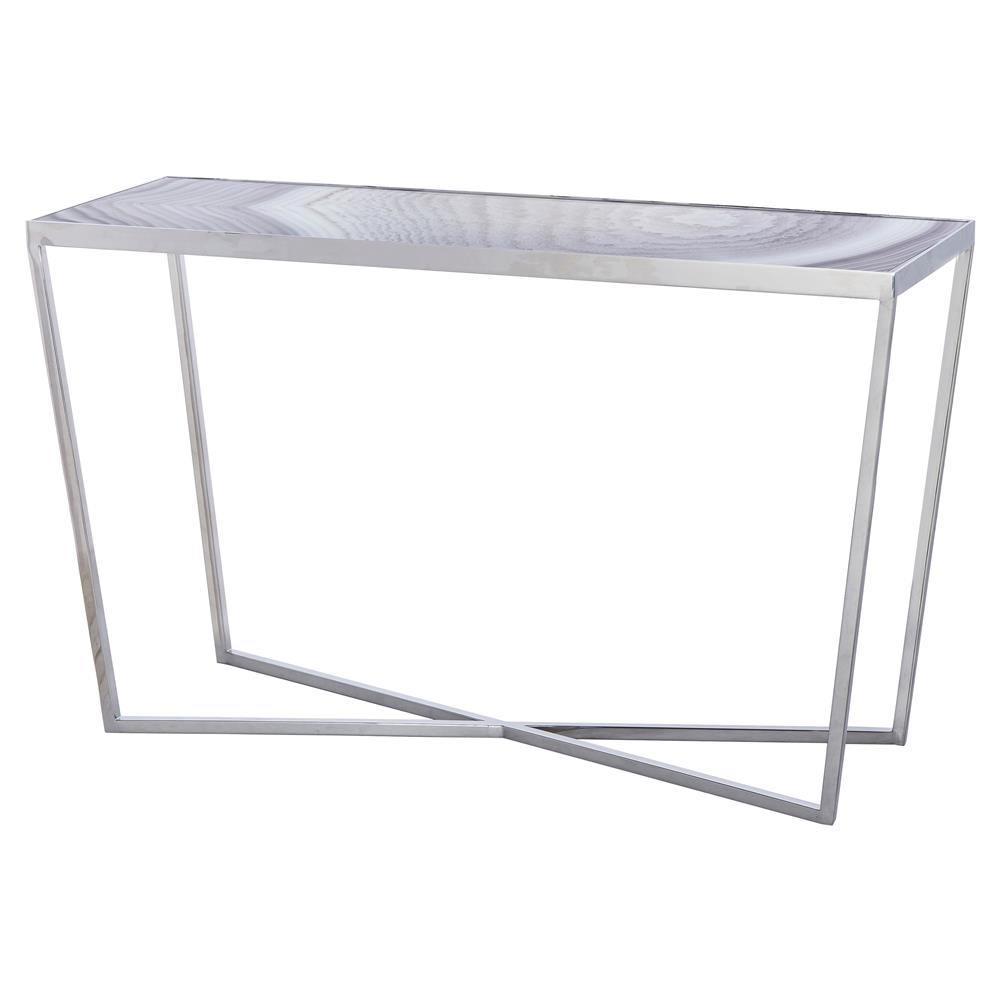 Glass Top Console Table Maison 55 Jaxson Modern Classic Glass Top Silver Metal Grey Console Table