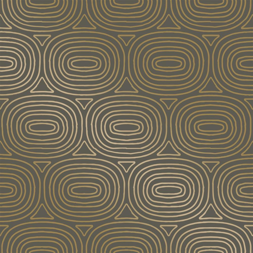 Metallic Gold Wallpaper Taupe Metallic Gold Ovals Removable Wallpaper