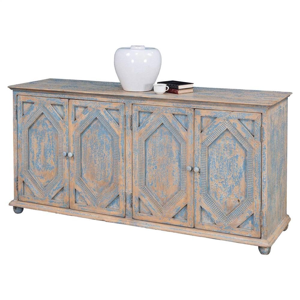 Buffet Sideboard Blue Janvier French Country Rustic Blue And White Wood Buffet Sideboard