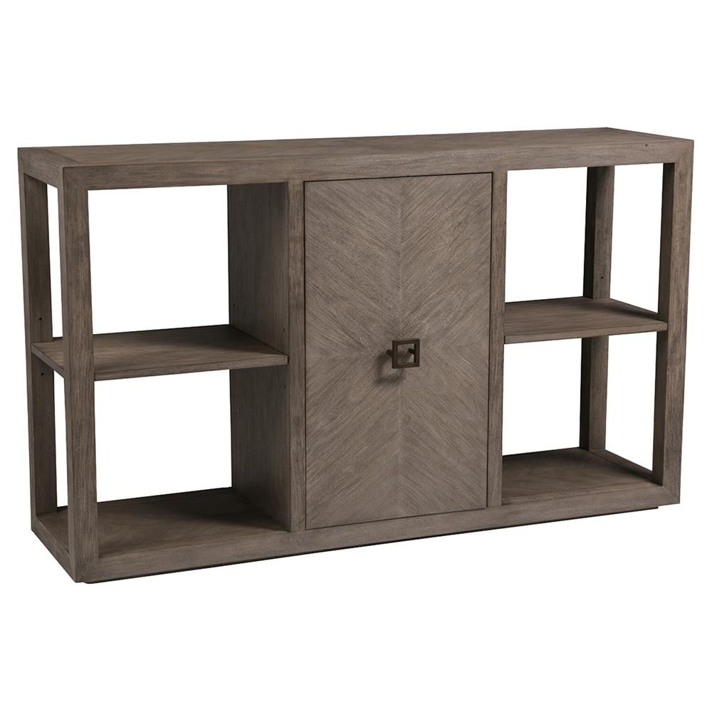 Wall Art Credence Artistica Credence Modern Wire Brushed Grey Wood 1 Door Console Table