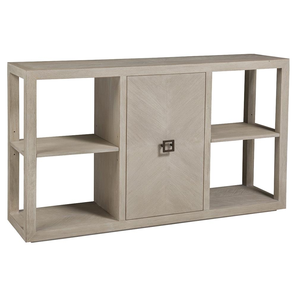 Credence Decorative Artistica Credence Modern Wire Brushed Whitewash Wood 1 Door Console Table