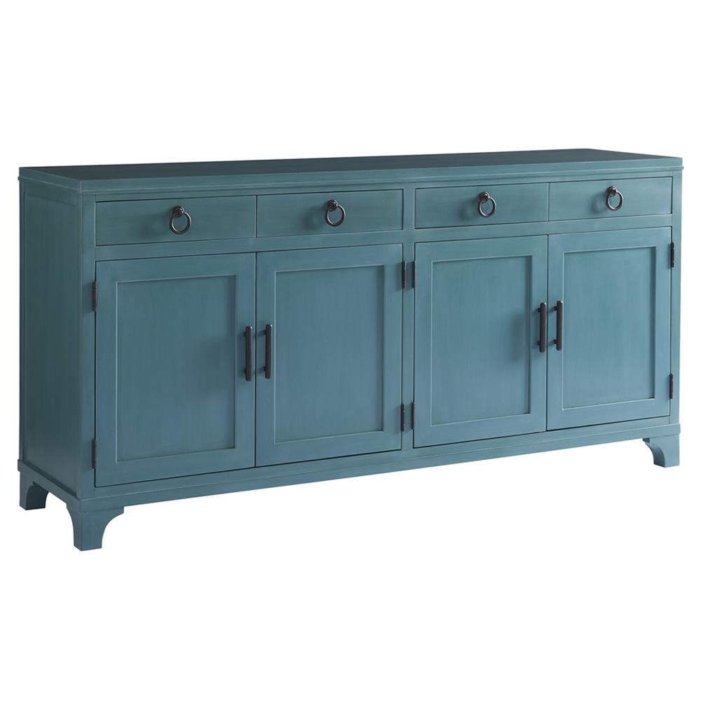 Buffet Sideboard Blue Barclay Butera Bayside Modern 4 Drawer Wood Buffet Sideboard Blue Marine