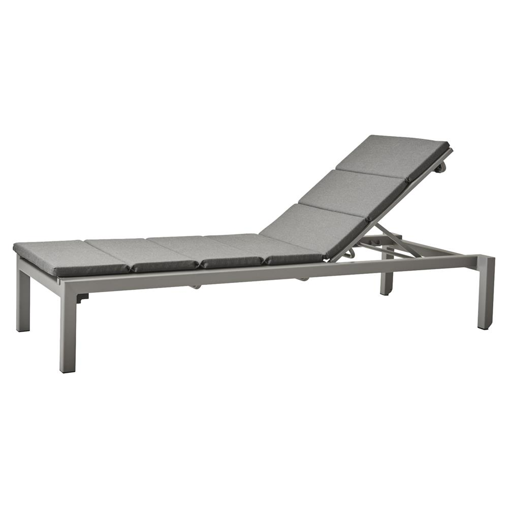 Chaiselongue Modern Cane Line Relax Modern Adjustable Dark Grey Cushion Outdoor Chaise Lounge
