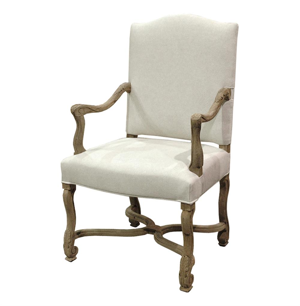 Arm Chairs Dafny French Country Empire Camel Back Dining Arm Chair