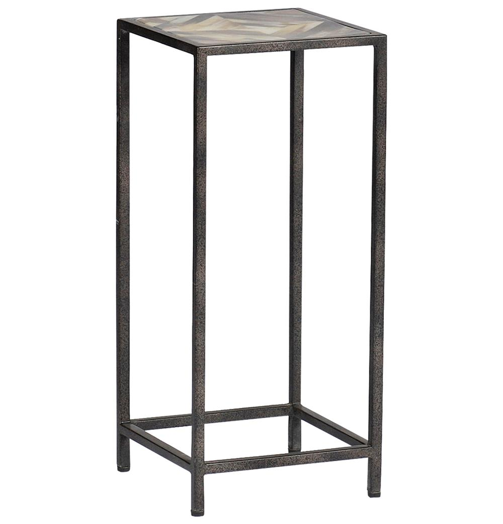 Tall Table Arthur Rustic Horn Inlay Tall Side End Table | Kathy Kuo Home