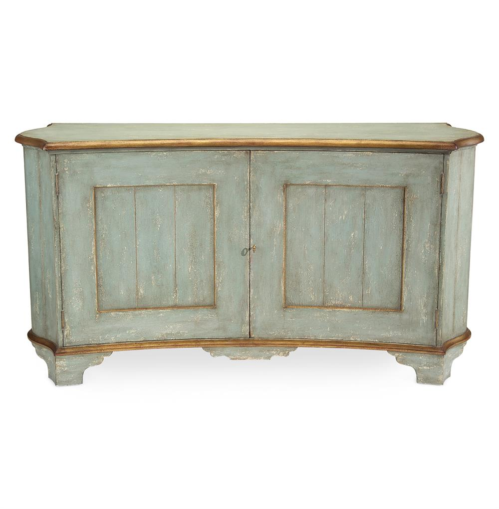 Buffet Sideboard Blue John Richard Claude French Country Light Blue Gold Gilded Buffet Sideboard