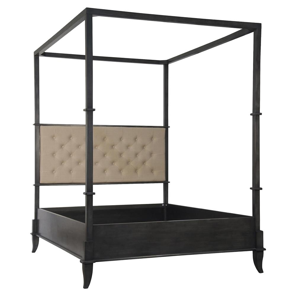 4 Poster Canopy King Bed Winston Industrial Loft Black 4 Poster Canopy Bed King