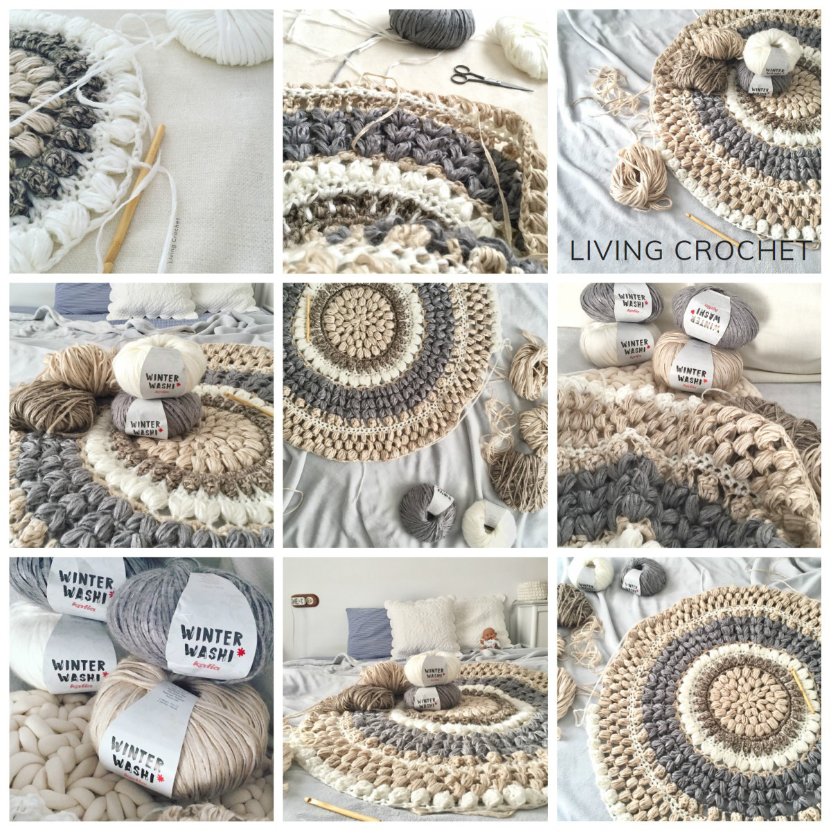 Tappeto All'uncinetto Schemi Living Crochet E Come Realizzare All Uncinetto Un Tappeto Con
