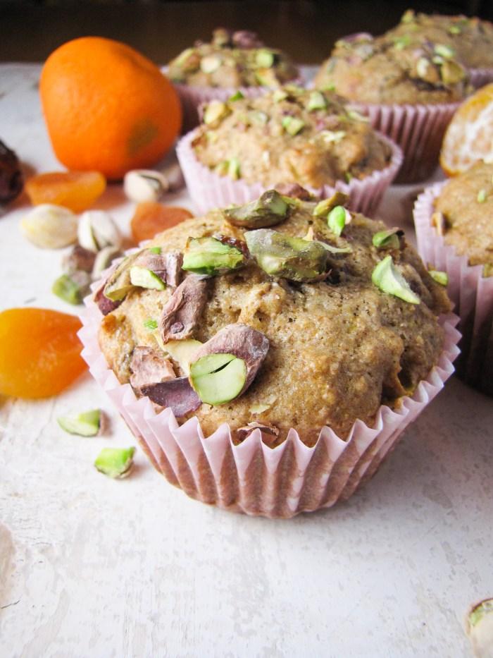 Healthy Orange-Date-Apricot Muffins {Katie at the Kitchen Door}