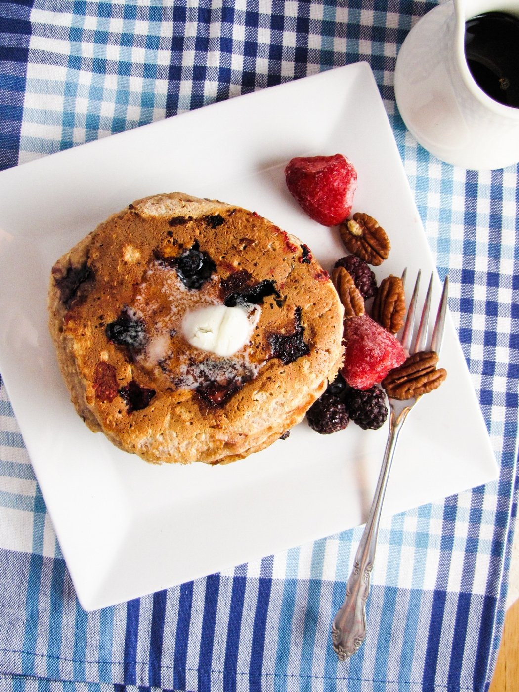 Whole Wheat Fruit and Nut Pancakes | Katie at the Kitchen Door