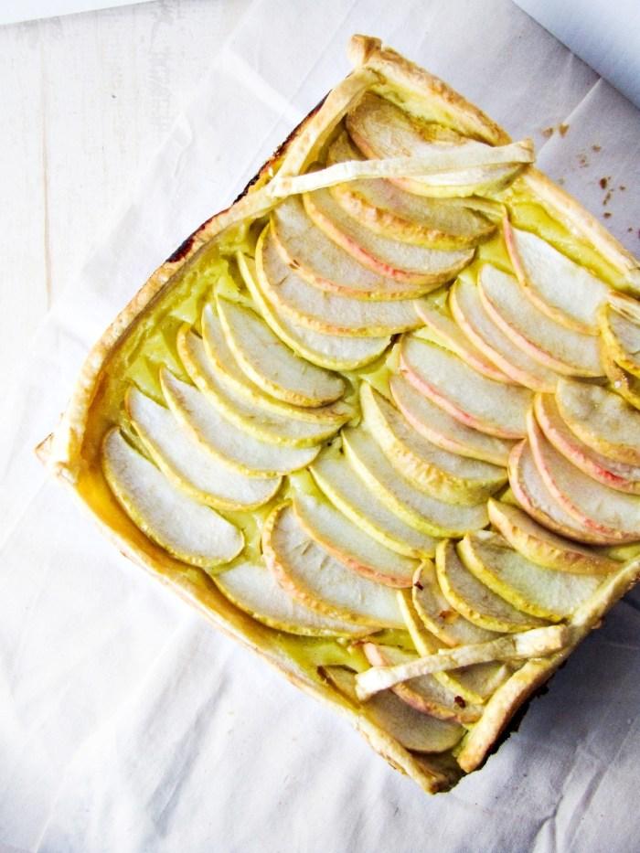 Italian Apple Custard Tart {Katie at the Kitchen Door}