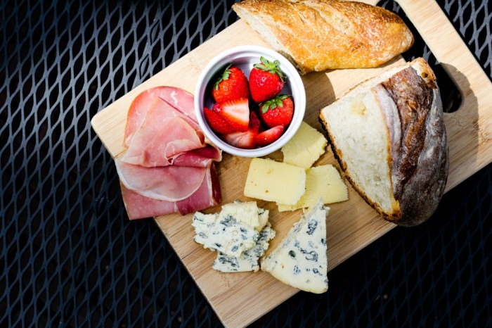 Prosciutto, Berries, Cheese, Baguette - All the makings of a panini party