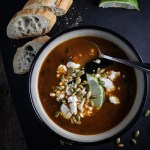 Black Bean Soup with Roasted Poblano