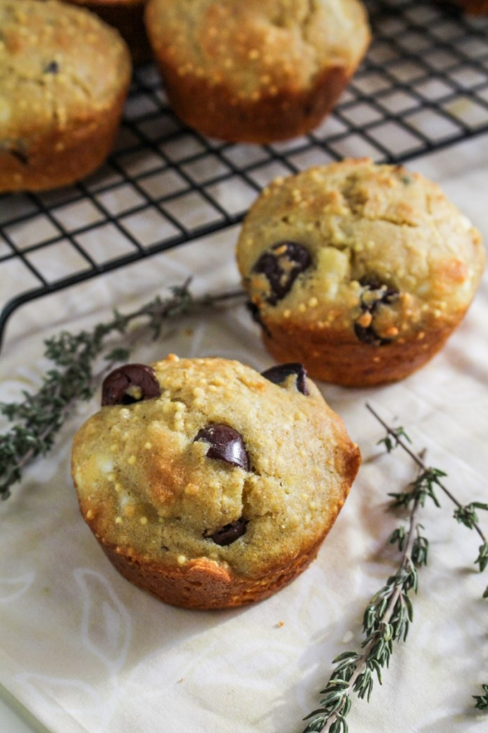Winter Cleanse 2014: Healthy Snack Recipes - Gluten Free Corn Feta-and-Olive Muffins {Katie at the Kitchen Door}