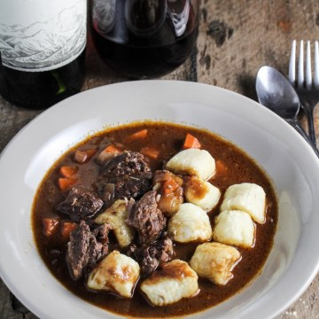 Beef Short Ribs and Potato Gnocchi - Alamos Wine Dinner
