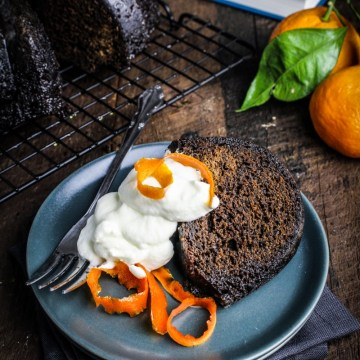 Molasses Spice Cake with Candied Orange Peel {Katie at the Kitchen Door}