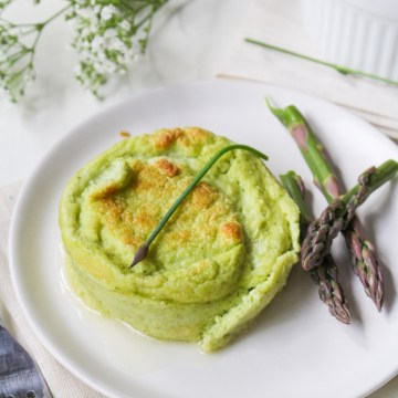 Asparagus, Leek, and Goat Cheese Souffles {Katie at the Kitchen Door}