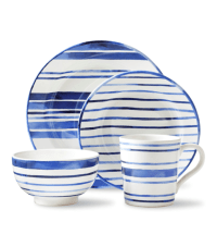 Blue And White Striped Dinnerware | New House Designs