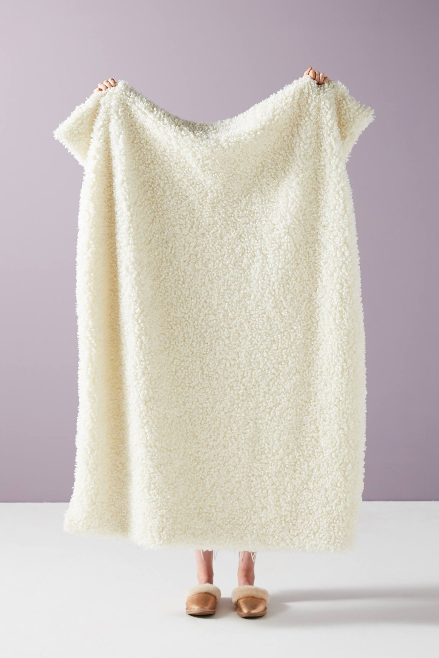 Lounge Throw Fuzzy Fur Faux Throw Blanket Cozy Lounging Lounge Ivory Home