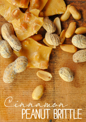 Cinnamon Peanut Brittle recipe from katienormalgirl.com #giftideas #homemade