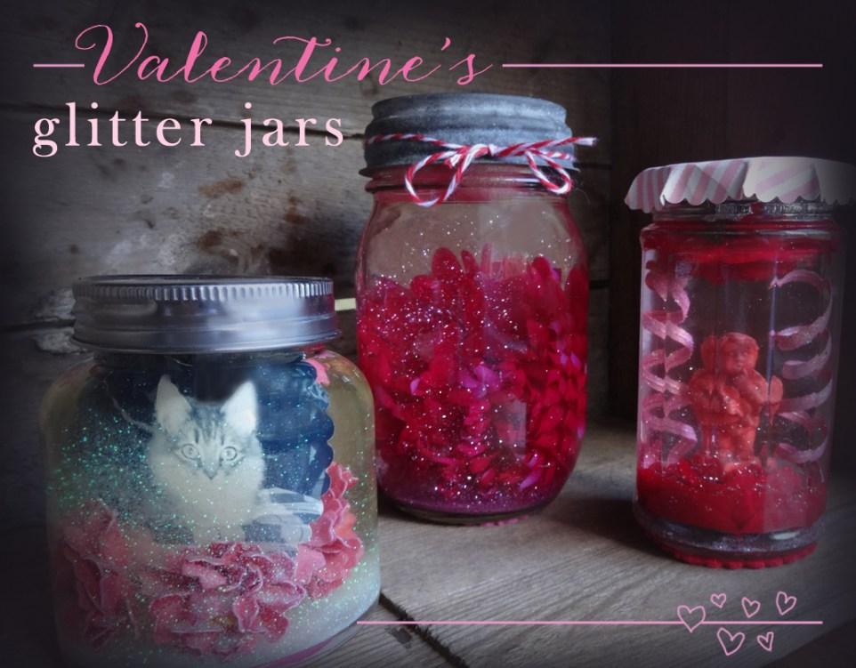 Valentines Glitter Jars from katienormalgirl.com | #valentinesday #crafts