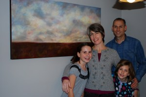 Family with Their beautiful painting