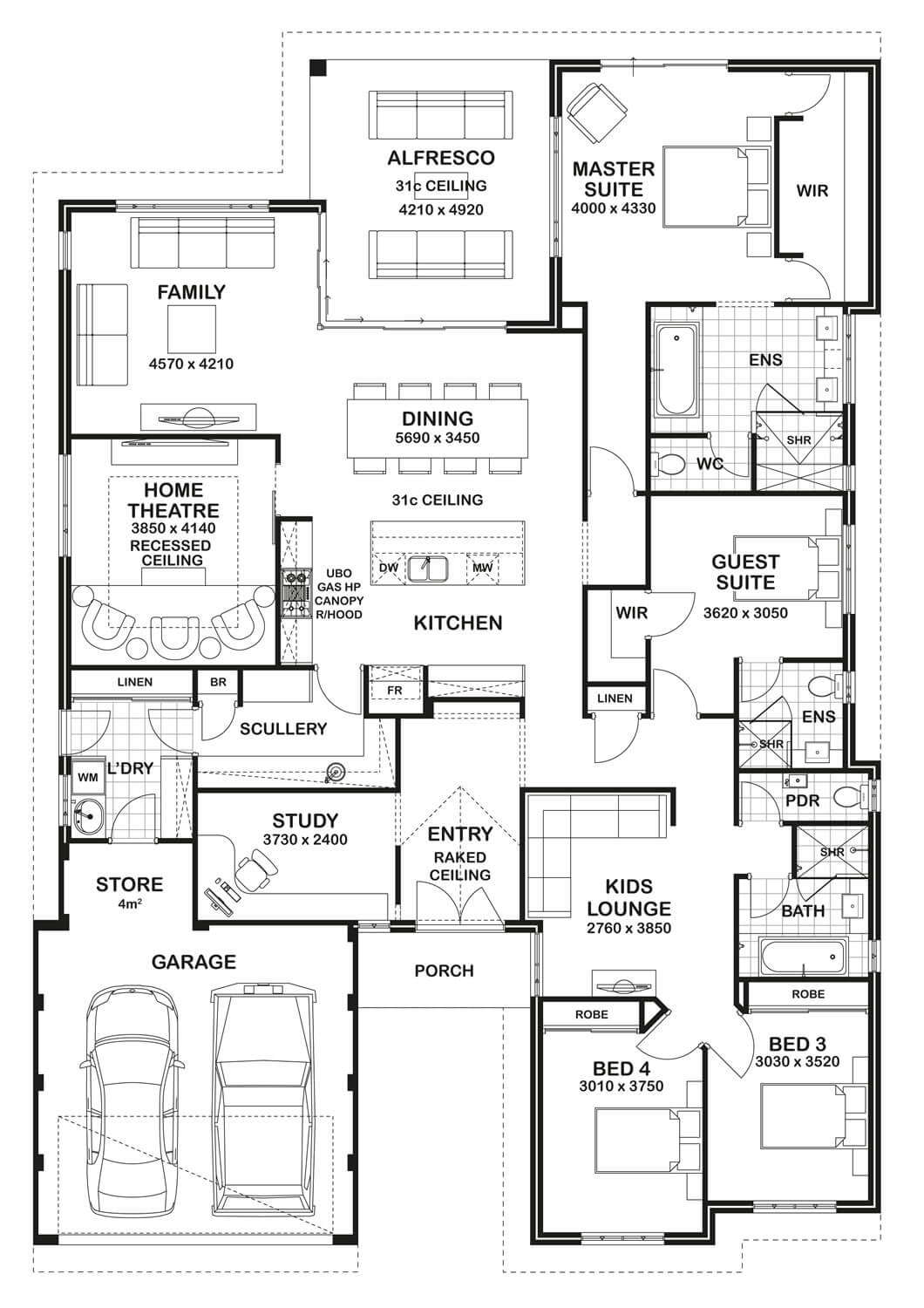 Free Bathroom Floor Plans Floor Plan Friday 4 Bedroom 3 Bathroom Home