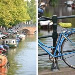 Canal and bicycle in Amsterdam
