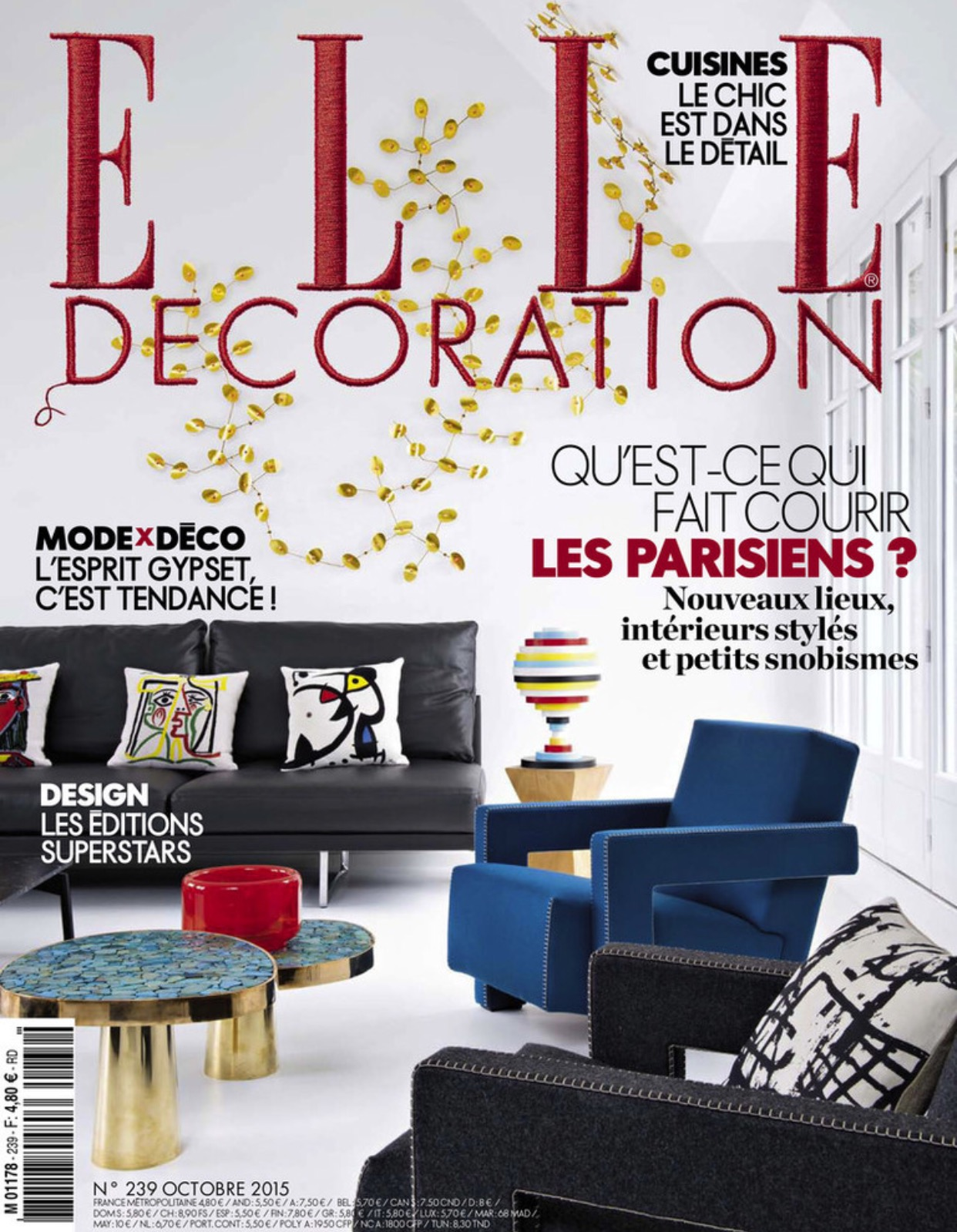 Elle Decoration France Katty Schiebeck Elle Decoration France August 2015