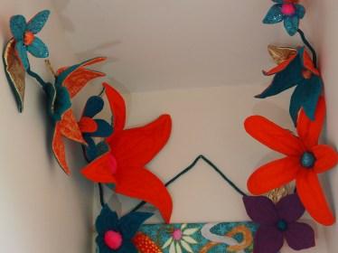 Fibre Art Flowers