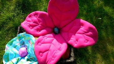 Fabric flowers, sculptural textiles, fibre art, textile art, sewing, sewn art