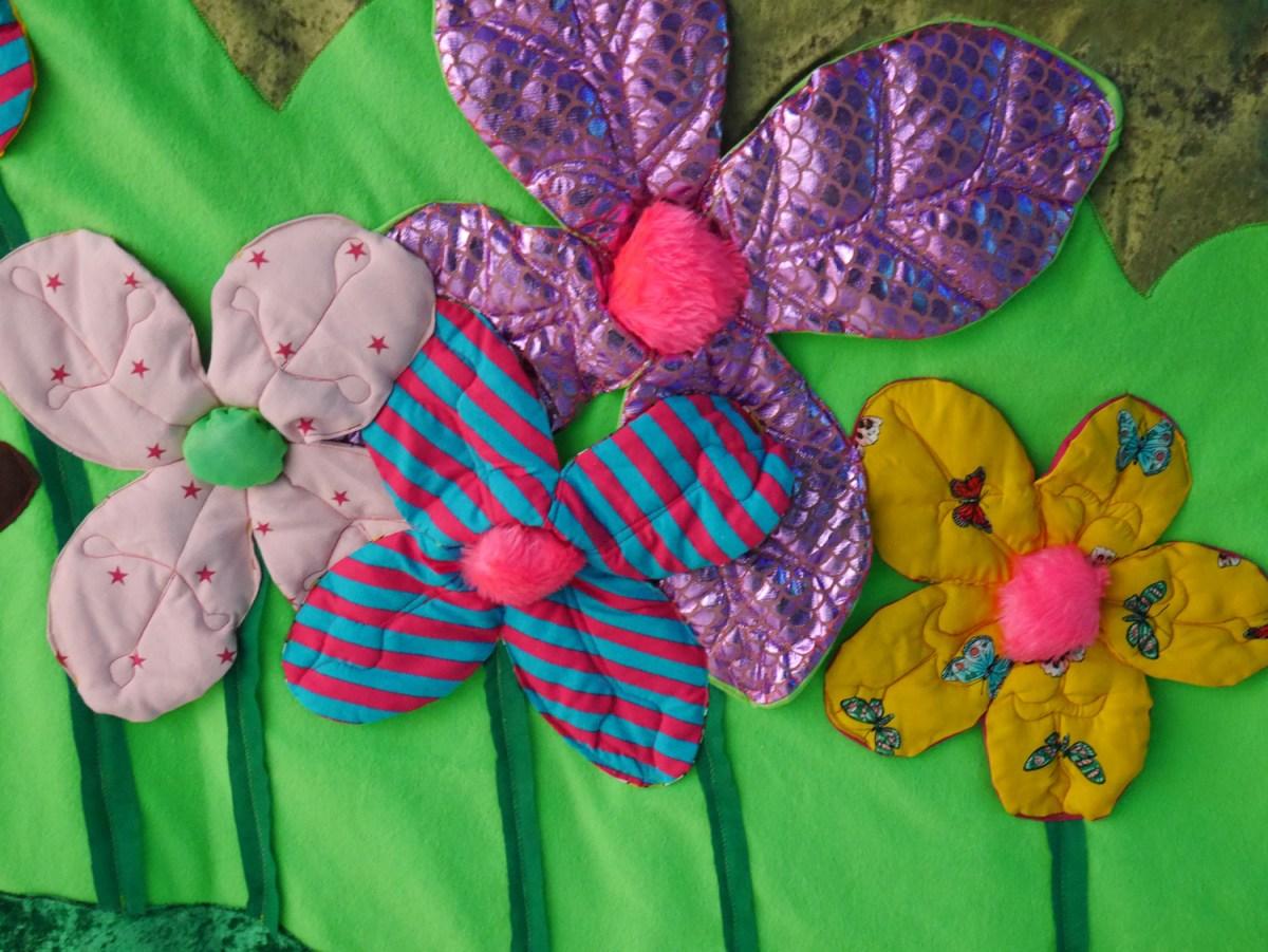 Flowers, puppet set, art for kids