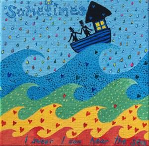 Wedding Love, Waves, Boat